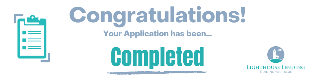 mortgage application completed